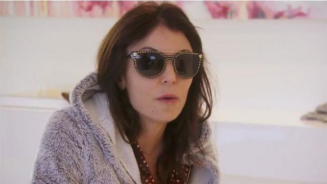 Versace Studded Flat-Top Wrap Sunglasses outfit worn by Bethenny Frankel in The Real Housewives of New York City (S11E15) - TV Show Outfits and Products