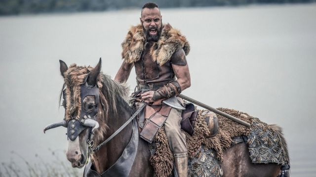 Viking helmet of Sigefrid (Christian Hillborg) seen in The Last Kingdom Season 2 Episode 5 - TV Show Outfits and Products