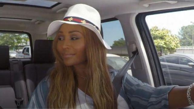 Vince Camuto White Hat With Bee Print outfit worn by Cynthia Bailey in The Real Housewives of Atlanta Season 12 Episode 2 - TV Show Outfits and Products