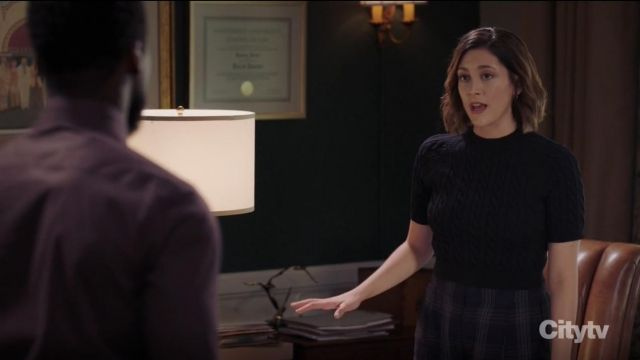 Vince Plaid Wide Leg Pants outfit worn by Sydney Strait (Caitlin McGee) in Bluff City Law Season 01 Episode 07 - TV Show Outfits and Products