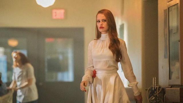 Fashion Trends 2021: White blouse of Cheryl Blossom (Madelaine Petsch) seen in Riverdale Season 2 Episode 1