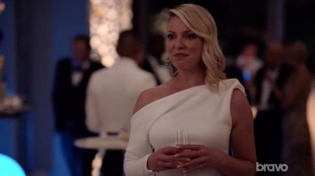 White gown Maticevski Samantha Wheeler (Katherine Heigl) seen in Suits : Lawyers-to-Measure Season 8 Episode 7 - TV Show Outfits and Products