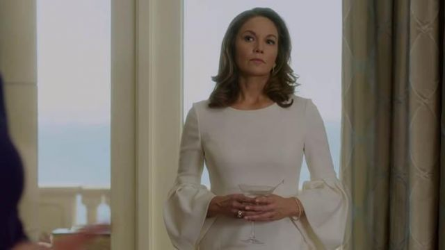 White robe Polo Ralph Lauren, Annette Shepherd (Diane Lane) seen in House of Cards (Season 6) - TV Show Outfits and Products