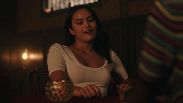 White t-shirt to Veronica Lodge (Camila Mendes) seen in Riverdale (Season 3 Episode 3) - TV Show Outfits and Products