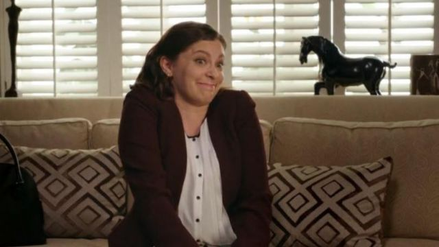 White tank top of Rebecca, Bunch (Rachel Bloom) seen in Crazy Ex-Girlfriend (Season 4 Episode 3) - TV Show Outfits and Products