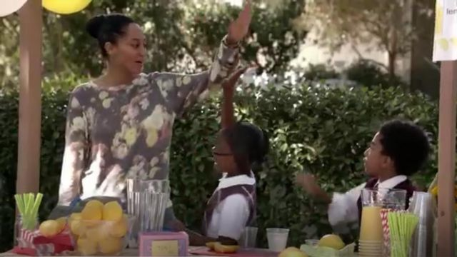 Wildfox Floral Sublimation outfit worn by Rainbow Johnson (Tracee Ellis Ross) in black-ish (Season01 Episode07) - TV Show Outfits and Products