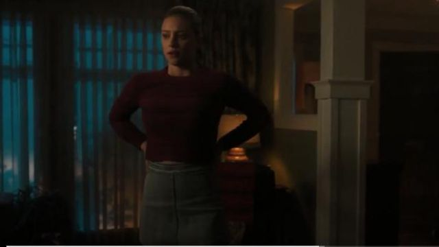 Wilfred Free Light Blue Donyale Skirt outfit worn by Betty Cooper (Lili Reinhart) in Riverdale Season 4 Episode 6 - TV Show Outfits and Products