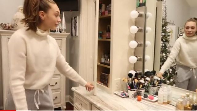 Wool sweater beige Maddie (Maddie Ziegler) seen in Dance Moms - TV Show Outfits and Products