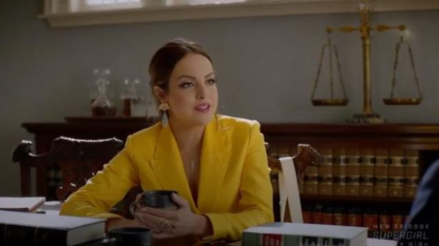 Yellow Blazer Jacket outfit worn by Fallon Carrington (Elizabeth Gillies) in Dynasty Season 3 Episode 5 - TV Show Outfits and Products