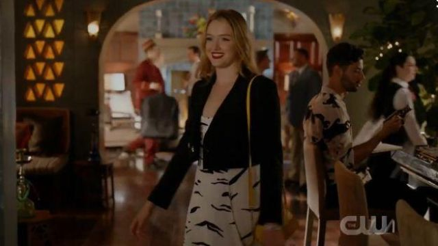 Yellow Quilted Handbag outfit worn by Kirby Anders (Maddison Brown) in Dynasty Season 03 Episode 06 - TV Show Outfits and Products