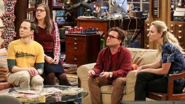 Yellow t-shirt 'vintage train' as outfit worn by Sheldon Cooper (Jim Parsons) seen in The Big Bang Theory S12 Episode 2 - TV Show Outfits and Products