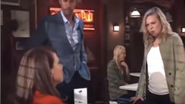 Zadig & Voltaire Vladimir Jacket outfit worn by Maxie Jones (Kirsten Storms) as seen in General Hospital April 19, 2019 - TV Show Outfits and Products