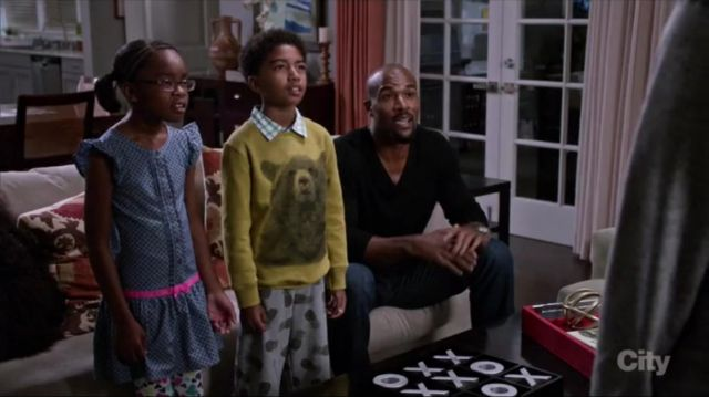 Zara Boys Bear Sweatshirt outfit worn by Jack Johnson (Miles Brown) in black-ish (S02E12) - TV Show Outfits and Products