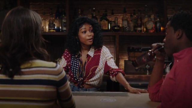 Zara Chain Print Top outfit worn by Javicia Leslie in God Friended Me (S01E20)