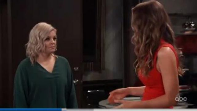 Zara Oversized Blouse outfit worn by Kirsten Storms as seen in General Hospital June 07,2019 - TV Show Outfits and Products