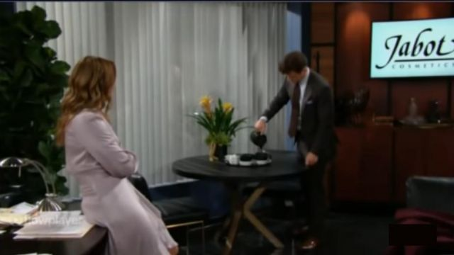 Zimmermann Lilac Wrap Dress outfit worn by Summer Newman (Hunter King) as seen on The Young and the Restless November 13, 2019 - TV Show Outfits and Products