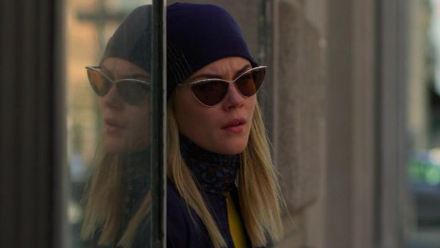 butterfly brown sunglasses outfit worn by Trish Walker (Rachael Taylor) in Marvel's Jessica Jones (S03E02) - TV Show Outfits and Products
