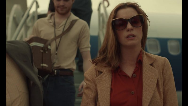 Fashion Trends 2021: Sunglasses Worn by Anne Hathaway as Elena McMahon in The Last Thing He Wanted