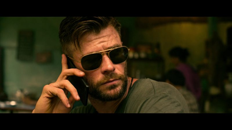 Aviator Sunglasses Worn by Chris Hemsworth as Tyler Rake in Extraction - Movie Outfits and Products