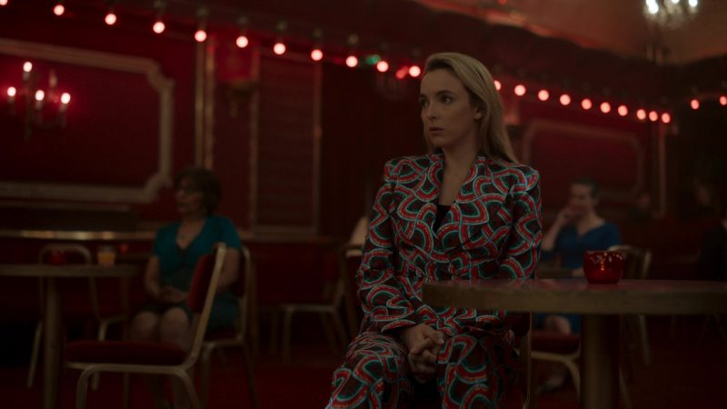 Halpern Jacket and Pants Suit Outfit Worn by Jodie Comer as Villanelle in Killing Eve - TV Show Outfits and Products