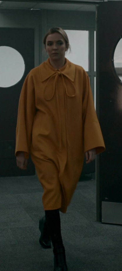Fashion Trends 2021: Loewe Yellow Oversized Coat Worn by Jodie Comer as Villanelle in Killing Eve