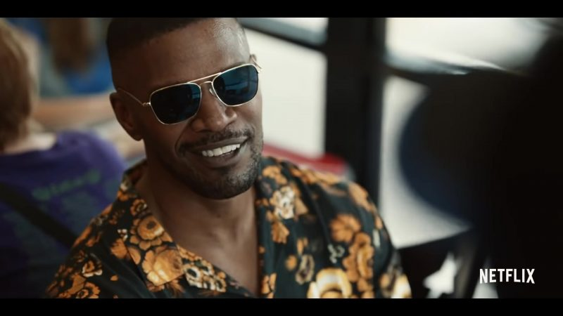 Aviator Sunglasses of Jamie Foxx in Project Power (2020) - Movie Outfits and Products