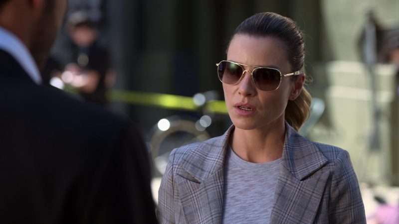 Randolph Aviator Sunglasses of Lauren German as Detective Chloe Decker in Lucifer Season 5 - TV Show Outfits and Products