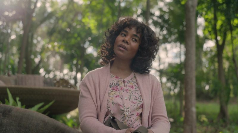 Fashion Trends 2021: Floral Blouse Worn by Regina Hall as Carmel Schneider in Nine Perfect Strangers