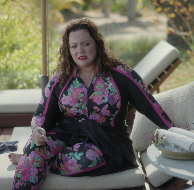 Fashion Trends 2021: Plus Size Wetsuit Swimwear Worn by Melissa McCarthy as Frances Welty in Nine Perfect Strangers