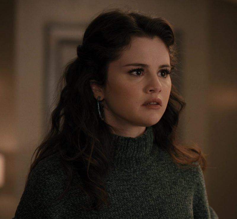 Fashion Trends 2021: Women's Green Knitted Turtleneck Sweater Worn by Selena Gomez as Mabel in Only Murders in the Building