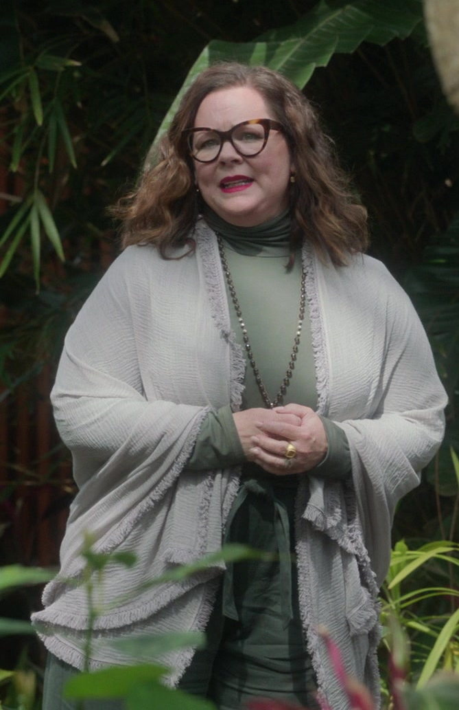 Fashion Trends 2021: Women's Green Turtleneck Top Worn by Melissa McCarthy as Frances Welty in Nine Perfect Strangers