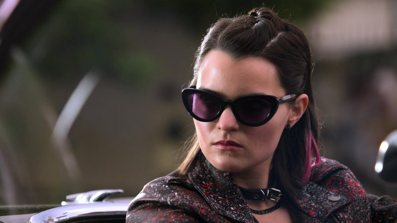 Fashion Trends 2021: Cat Eye Sunglasses of Brianna Hildebrand as Rory in Lucifer
